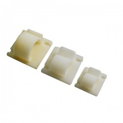 Cable Clip Self Adhesive Natural 14.5mm-10