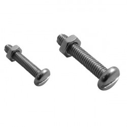 Stainless Steel Machine Screws and Nuts 5mm x 25mm-10
