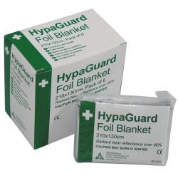 HypaGuard Disposable Foil Blankets 210 x 130cm Pack of 6-10