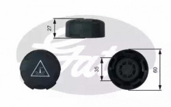 Coolant Tank Cap GATES RC247-10