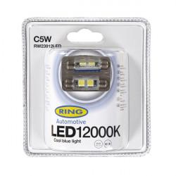 LED Bulb 12V C5W 12000K-LED Blue-10