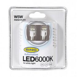 LED Bulb 12V W5W 6000K-LED White-10