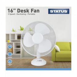 3 Speed Oscillating Desk Fan 16in.-10