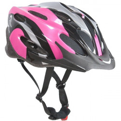 Vapour Adult Black and Pink Cycle Helmet 56-58cm-10