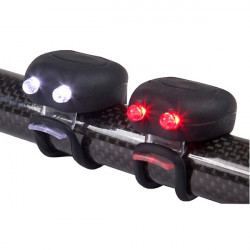 MegaMini Twin LED Silicone Cycle Light Set Black-10