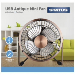 Portable USB Mini Metal Desk Fan 4in.-10