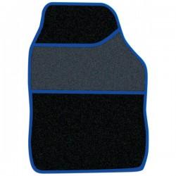 Standard Universal Mat Set Velour Black/Blue Binding 4 Piece-10