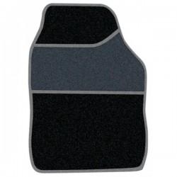 Standard Universal Mat Set Velour Black/Silver Binding 4 Piece-10