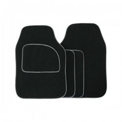 Standard Universal Mat Set Velour Black/Grey Binding 4 Piece-10
