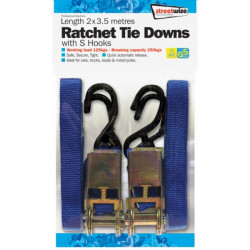 Ratchet Tie Down S Hooks 3.5m Pack Of 2-10