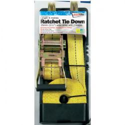 Ratchet Tie Down (J Hooks) Heavy Duty 35mm/5m-10