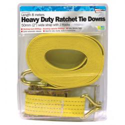 Ratchet Tie Down Heavy Duty 50mm/8m-10
