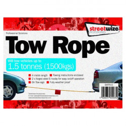 Tow Rope (Braided) Yellow 1.5 Tonne-10
