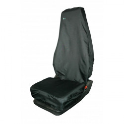 Universal Seat Cover Single High Back Black-10