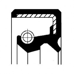 Shaft Seal, manual transmission CORTECO 19027891B-10