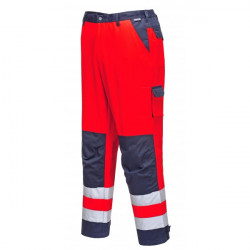 Lyon Texo Hi-Vis Trousers Red/Navy Small-10