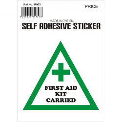 Outdoor Vinyl Sticker White First Aid Kit On Board-10