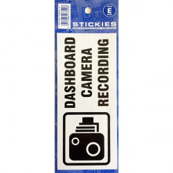 Outdoor Vinyl Sticker Blue Dashboard Camera Recording-10