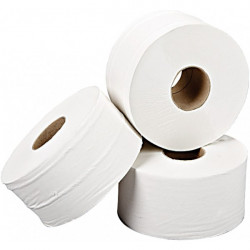 2 Ply White Mini Jumbo Toilet Rolls 200m Pack of 12-10