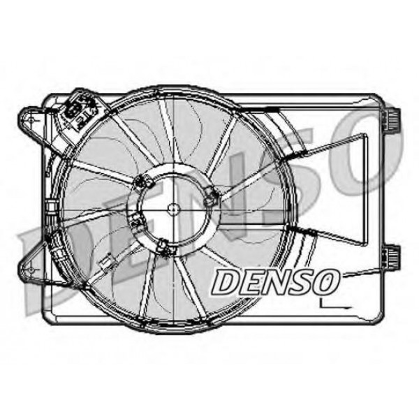 Fan, radiator for Fiat Linea - DENSO DER09301