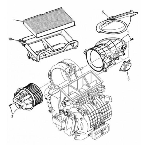 heater adjustment actuator   servo flap motor for citroen c2  c3  peugeot 1007