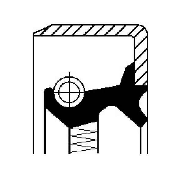 Shaft Seal, wheel hub CORTECO 19036492B-00