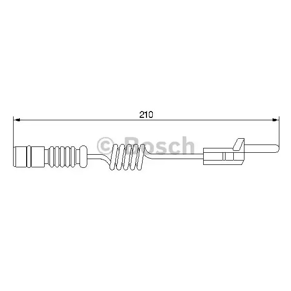 Brake Pad Wear Warning Sensor BOSCH 1 987 474 969-00