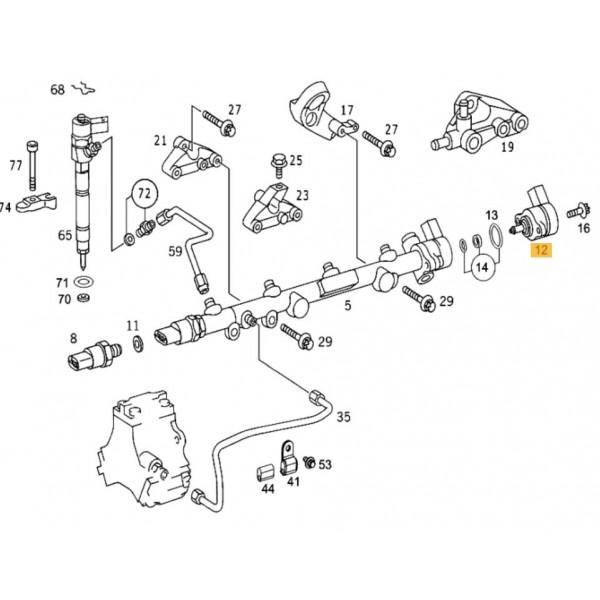 fuel rail pressure sensor    regulator mercedes c  e  g  m