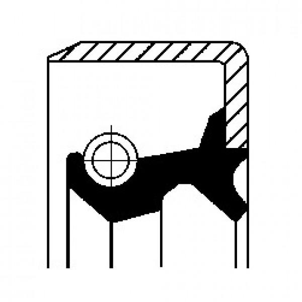 Shaft Seal, wheel hub CORTECO 19026223B-00