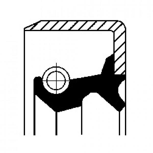 Shaft Seal, wheel hub CORTECO 19025660B-00