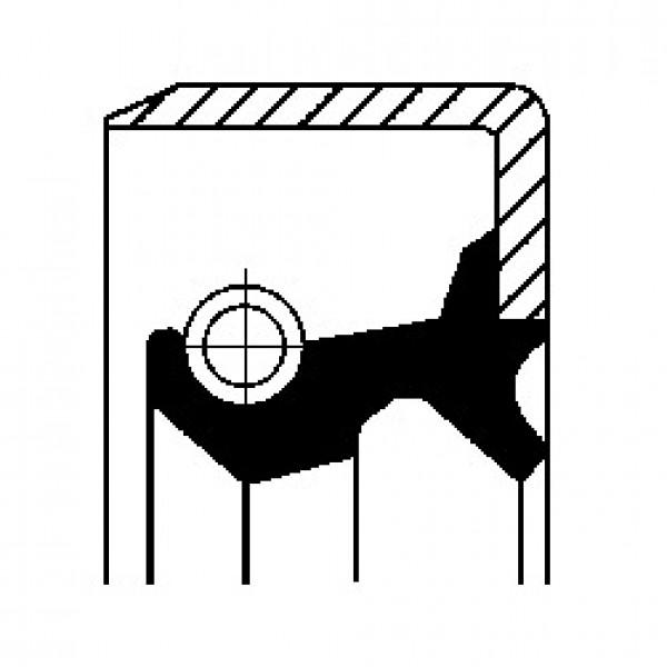 Shaft Seal, wheel hub CORTECO 19027869B-00