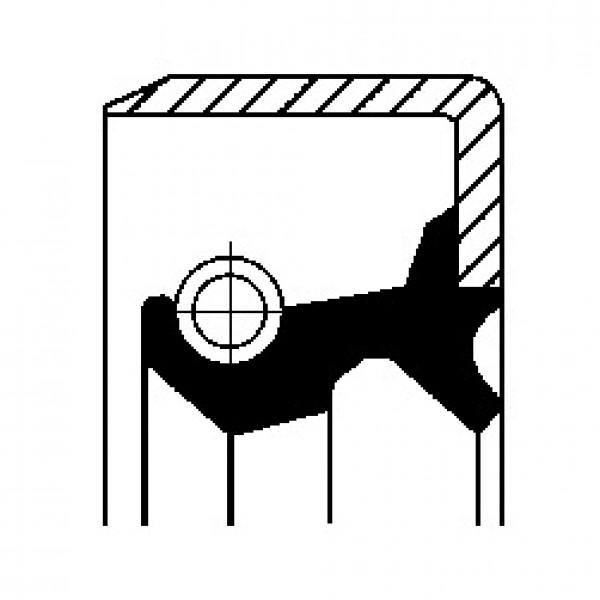 Shaft Seal, wheel hub CORTECO 19029704B-00