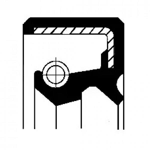 Shaft Seal, wheel hub CORTECO 19033925B-00