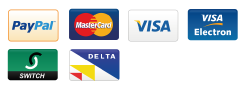 We accept Paypal, Mastercard, Visa, Visa Electron, Switch and Delta